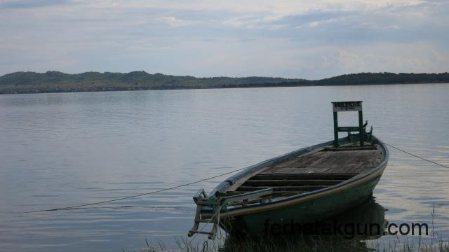Fischerboot am Lake Tanganyika