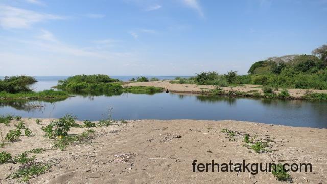 Flussmuendung am Matema Beach