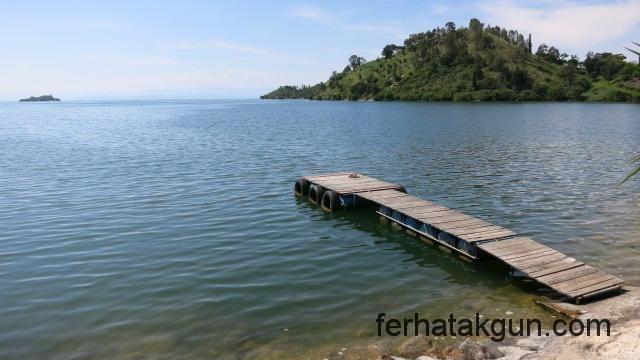 Schwimmen am Lake Kivu