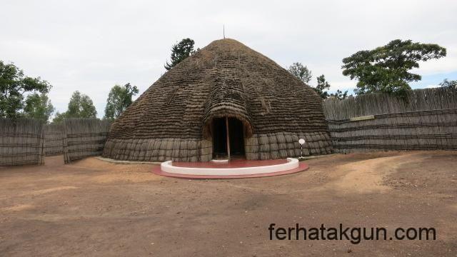 Palast des Königs in Nyanza