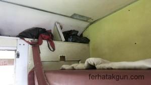 Mein Stauraum im Zug nach Mwanza