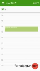 Accessing calendar