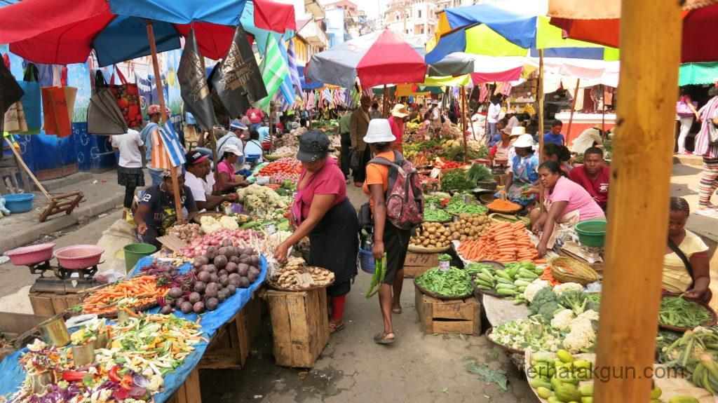 Analakely Markt in Tana Madagaskar