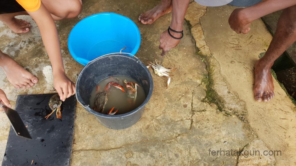 Coronie Totness Friendship - Zubereitung Krabben