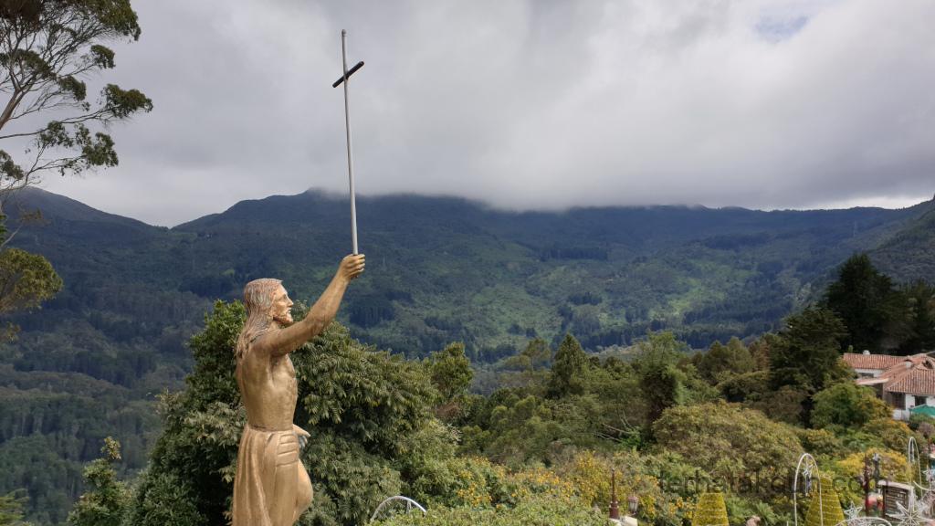Bogota - Monserrate Aussicht Jesus