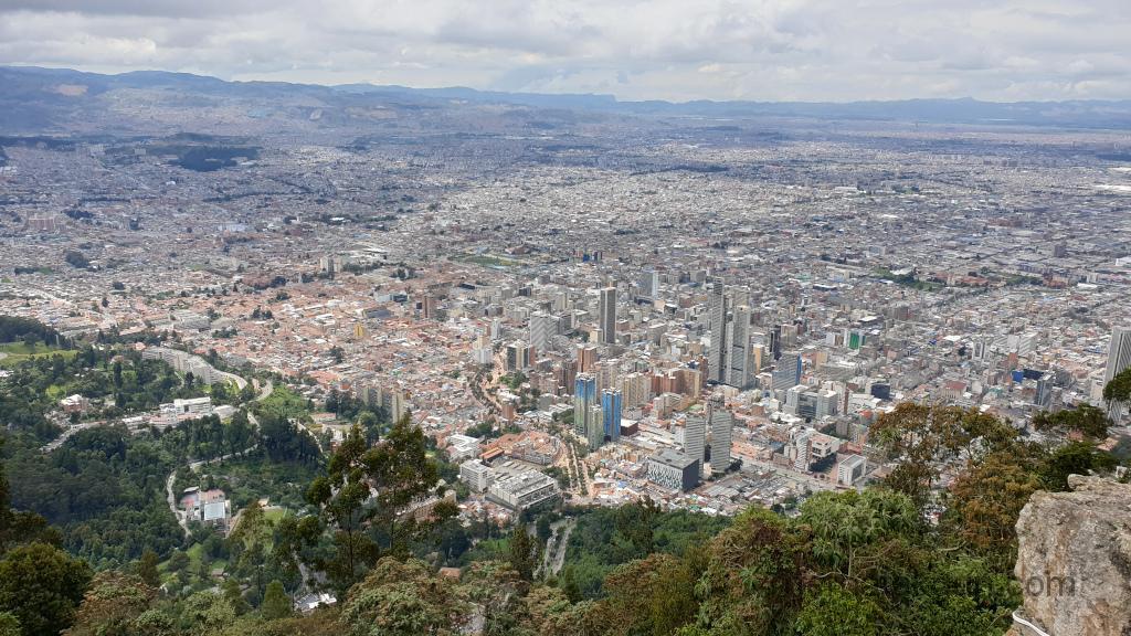 Bogota - Monserrate Aussicht Bogota