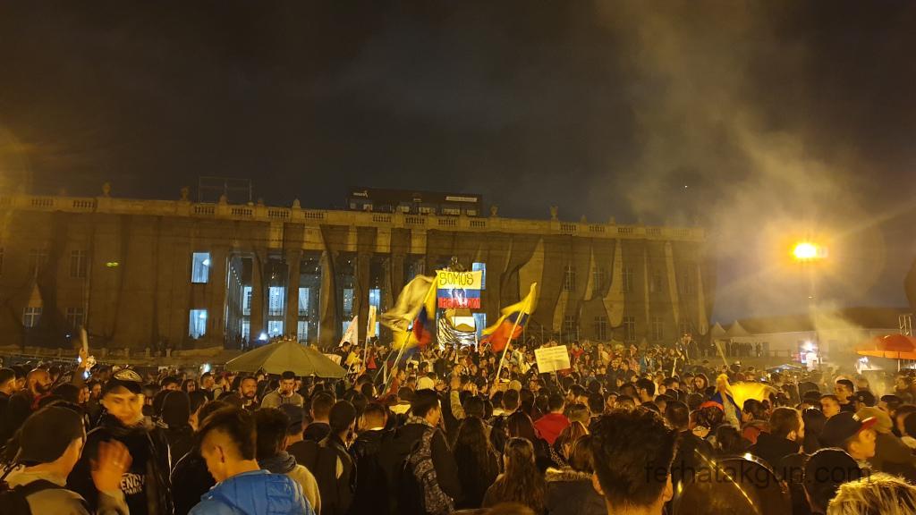 Bogota - Protest Simon Bolivar Platz