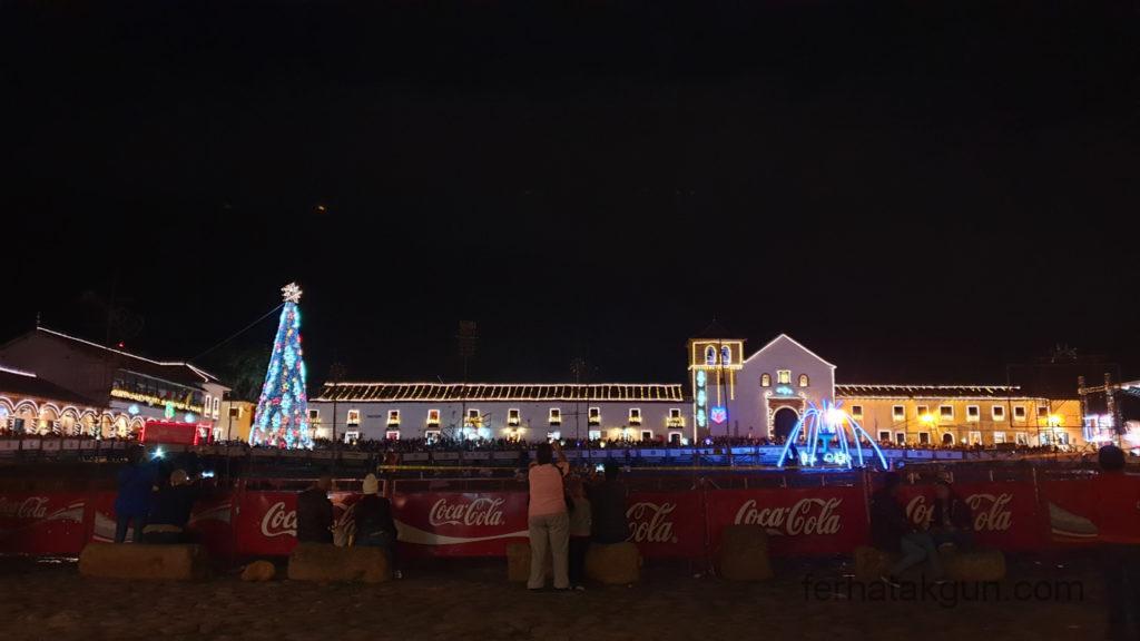 Villa de Leyva - Festival de Luces - Plaza