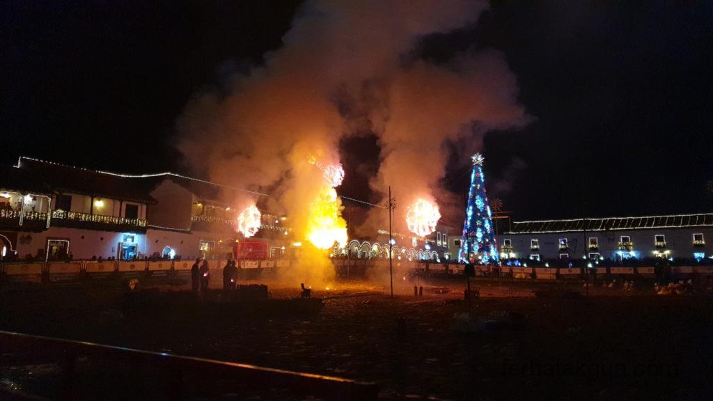 Villa de Leyva - Festival de Luces - Feuerwerk