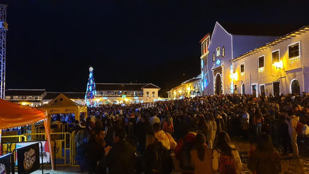 Villa de Leyva - Festival de Luces - Zuschauer