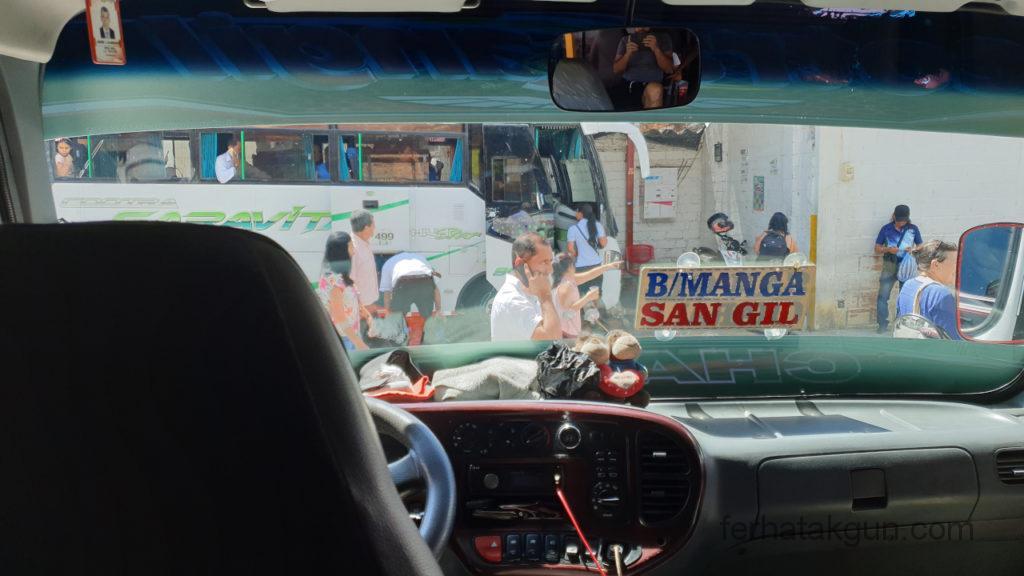 Cascada de Juan Curi - Fahrt mit dem Bus