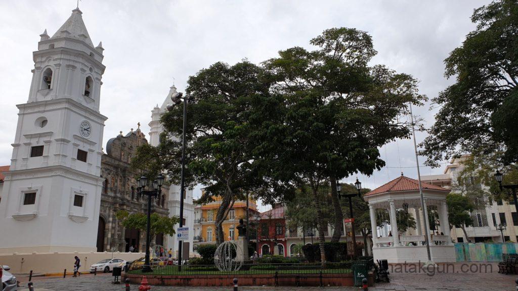 Panama City - Place de la independencia in Casco Viejo