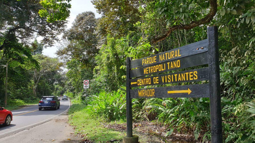 Parque Natural Metropolitano - Zum Eingang
