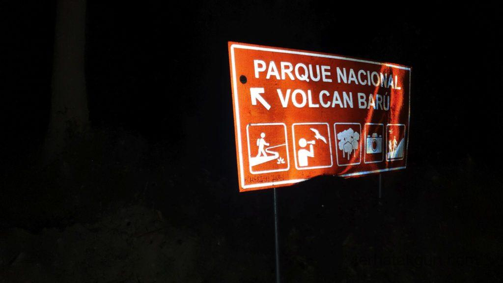 Volcán Barú - Am Eingang