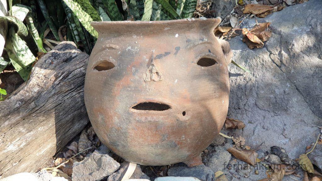 Nicaragua - Ometepe - Keramik Gesicht